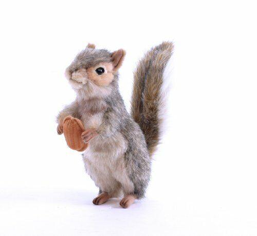 "Hansa Squirrel Plush, 8"", Gray"