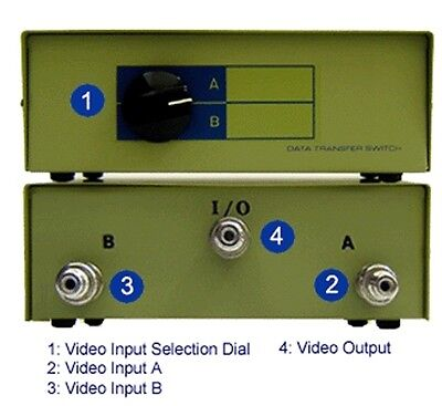 2 In 1 Out Composite BNC Video Routing Switcher