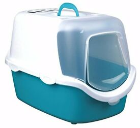 BNIB Large Trixie Vico Covered Cat Litter Tray. Easy Clean + 30 L PetsAtHome Wood Pellet Litter