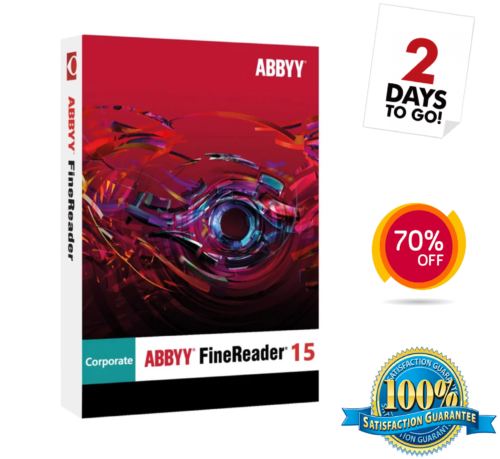 ABBYY Finereader Corporate Edition 15 Software Lifetime for Windows