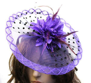 Dot Disc Flower Fascinator Headband Wedding Hair Accessories