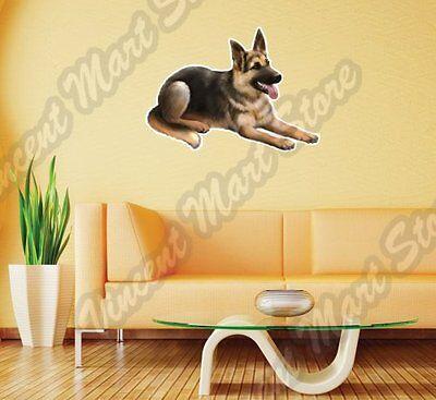 "German Shepherd Dog Breed Pet K9 Wall Sticker Interior Decor 25""X22"""