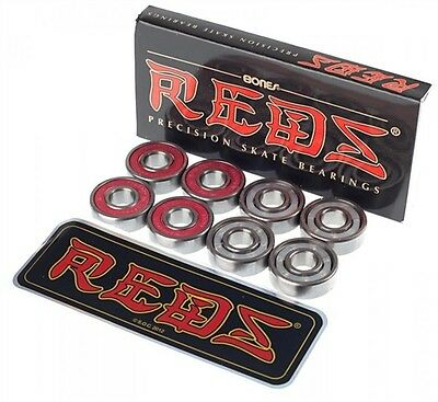 BONES REDS Skateboard bearings 8pack 8mm