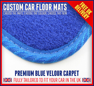 Blue Premium Quality fitted car floor mats Hyundai i40 All models 2011 Now