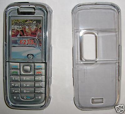 Clear Smoked Nokia 6233 Clip on cover NEW UK seller Clear Cover Clip