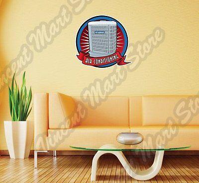 "Air Conditioning Unit Mechanic HVAC Gauge Wall Sticker Room Interior Decor 22"""