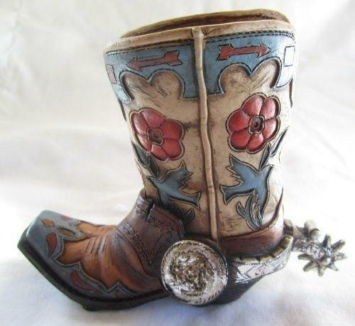 Ceramic Cowboy Boots Ebay