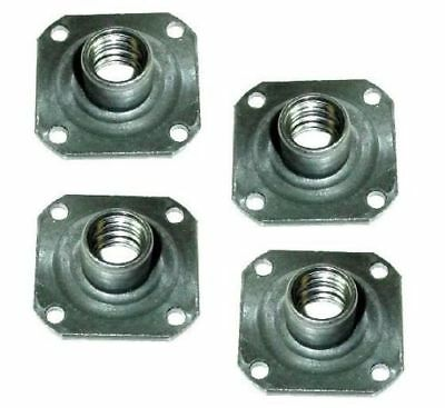 4 T-nut Weld-on With 1-38 X 1-38 Square Base And 12- Threaded Stem