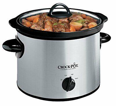 Crock-Pot SCR300-SS 3-Quart Manual Slow Cooker, Silver..