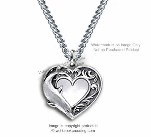 DOLPHIN HEART LOVE NECKLACE STAINLESS STEEL CHAIN OCEAN LOVER JEWELRY FREE SHIP