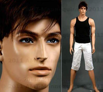 Male Mannequins Base Realistic Handmade Full Body Standing Manikin Ed 1 Wig