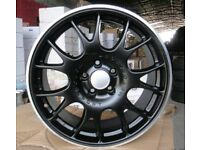 NEW 18'' BBS CH STYLE BLACK ALLOY WHEELS X4 BOXED 5X112 GOLF MK5 MK6 MK7 PASSAT CADDY AUDI A3 A4 TT