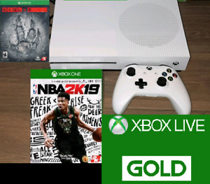 XBOX One S 1TB w 2 games and GOLD Trade for a PS4 Slim 1TB