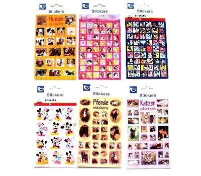 1 Bogen Sticker Stickers/Prinzessin/Disney/Pferde/Hunde/Katze/Bogengröße 20x10cm (Disney Prinzessin Bögen)