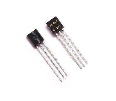 50pcs Bc547 To-92 30v Low Power Npn Transistor New
