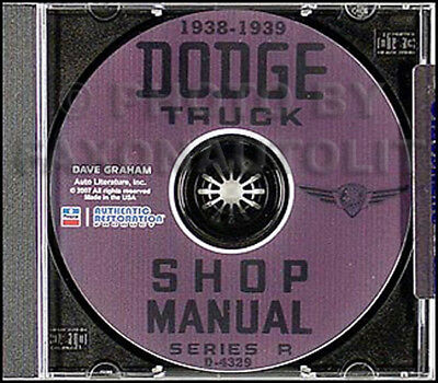 1938 Dodge Pickup and Truck Repair Shop Manual on CD 38 Service