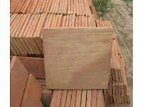 Hand made terra cotta floor tiles