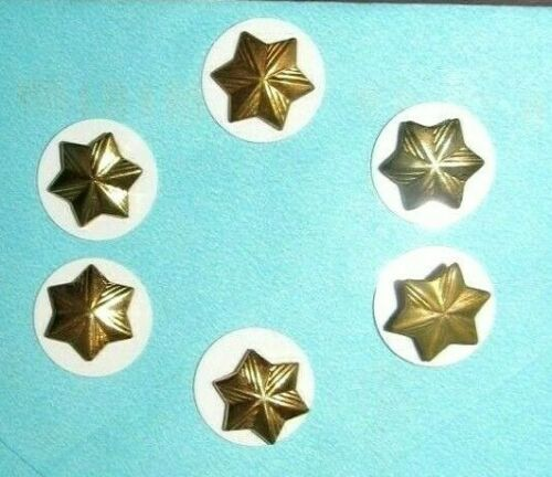 6 X Official CADETTE Girl Scout Member STARS Excellent, 1963-NOW w/WHITE DISK
