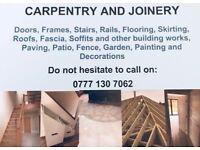 Experienced Carpenter/Construction work in Greater London, Essex, Hertfordshire