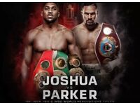 Anthony Joshua vs Joseph Parker x2 tickets