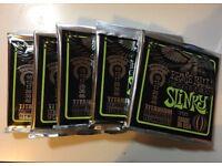 *Brand New* Ernie Ball Coated Slinky 10-46 electric guitar strings x 5packs