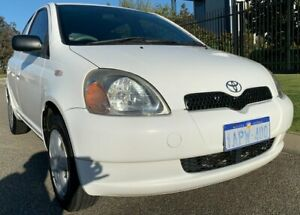 1999 Toyota Echo NCP10R White 5 Speed Manual Hatchback Malaga Swan Area Preview