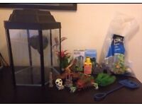 40ltr Glass Fish Tank with Accessories