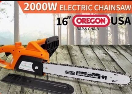 "BRAND NEW 2000W Electric Chainsaw with 16"" OREGON Bar & Chain"