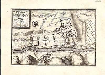 Antique map, Le Chasteau de Reinfelt sur le Rhin