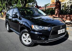 2012 Mitsubishi Outlander ZH MY12 LS 2WD Black/Grey 5 Speed Manual Wagon Medindie Walkerville Area Preview