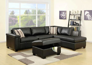 2PC FAUX LEATHER SECTIONAL $998