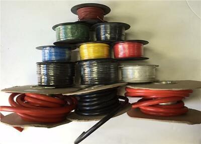 50M Roll 17.5 Amp Single Core Wire Yellow Auto Cable Car Loom Flex Strand 28/.03