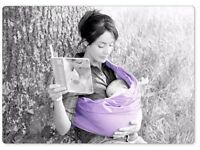 Tri-cotti baby sling supports baby, leaves Mums hands free and encourages bonding