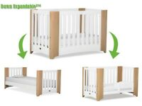Brand New Boori Dawn Expandable Cot Bed as sold by John Lewis - Beech White RRP £599