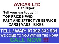 WE BUY ANY CAR | ANY TIME | TOP PRICES | FAST AND EFFECTIVE SERVICE