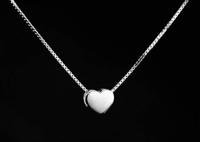 Jewellery - Drawing Heart Pendant Necklace 925 Sterling Silver Chain Womens Jewellery Gifts