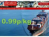 Cargo to Pakistan, Azad Kashmir, India and all over the world from 0.99p/kg