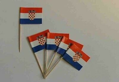 Flaggen Zahnstocher Kroatien Fahne Flagge Minipicker Partyzahnstocher