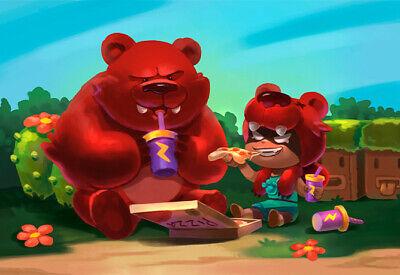 Poster de Brawl Stars - Nita y su oso merendando - 45x30 cm