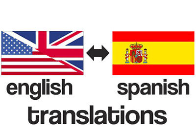 Translation Service English Spanish  Spanish English