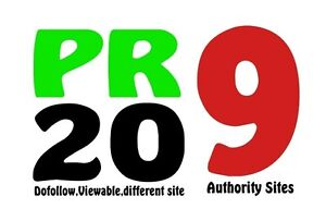 20 Permanent High Authority PR 9 Backlinks - Highest Quality..MANUAL LINKS ! WOW
