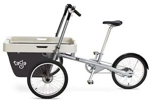 Bike with cargo carrier