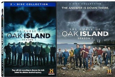 The Curse Of Oak Island Complete Season 1 One   2 Two  Dvd Ws  4 Disc Set  New