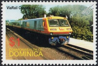 VIA RAIL (Canada) Bombardier LRC-2 No.6903 Diesel Passenger Train Stamp #2