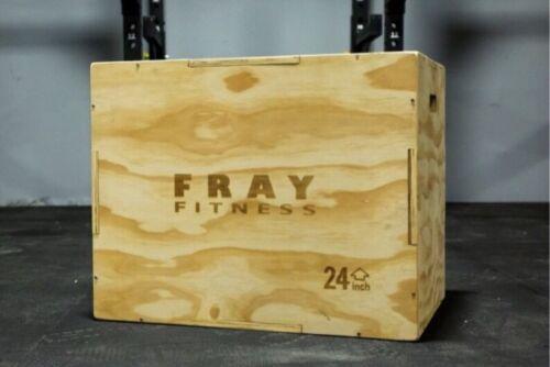 """Fray Fitness  3 in 1 Wood Plyo Jump Box  20/24/30 20"""" 24"""" 30"""" Plyometrics"""