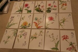 a set of flowers postcards, 30pc, brand new
