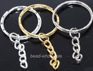 10pcs-silver-golden-metal-key-ring-chain-findings-30mm-u-pick-colour