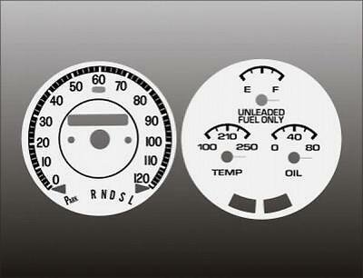 1975 Oldsmobile Cutlass Dash Cluster White Face Gauges 75