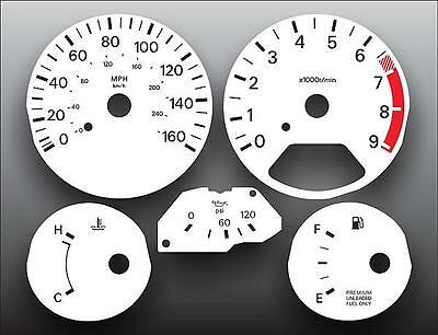 White Face Gauge Kit Fits 1992-1996 Nissan 300ZX Non-Turbo 2+2 Coupe Cluster