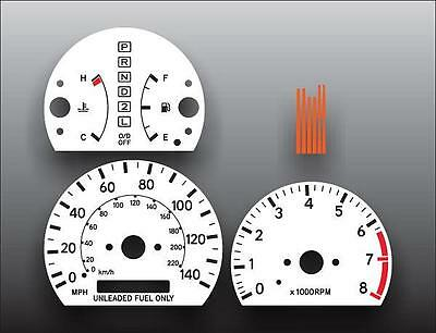 01 White Face Gauge - 1997-2001 Toyota Camry Dash Instrument Cluster White Face Gauges